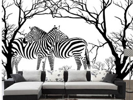 Wall paper Abstract tree zebra wallpaper mural wall stickers wallpaper papel de parede