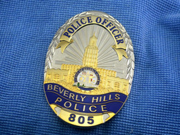 Wholesale The Beverly BeverlyHills Officer bronze badge in Beverly Hills
