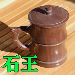 Wholesale Pure natural wooden fish stone glass health care tea tea sets cups quality goods without wax large capacity Large bamboo cup the m