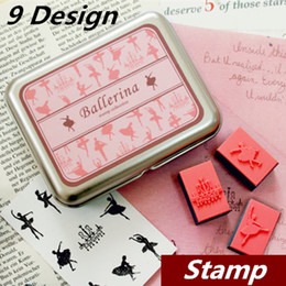DIY Stamp 9 design option Tin box stamp set for scrapbooking paper wood Wedding sealing Home decoration school supplies 6708