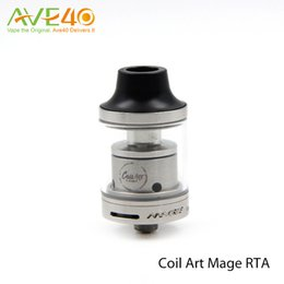 Wholesale Original CoilArt MAGE RTA Tank ml Adjustable Airflow Dual Air Tubes Inside Chamber Food Grade Pyrex Glass