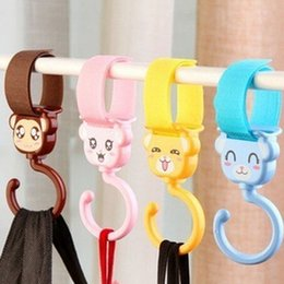 Wholesale Cartoon Baby Stroller Accessories Hook For Carts Pram Bag Carriage Hanging L00025 BAR