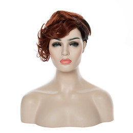 Fashion Bugundy Synthetic Hair Stylish Short Wigs Wine Red Curly Woman Wigs Suit for Party and Daily Life