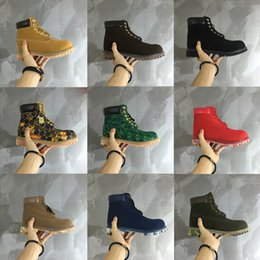 Wholesale Authentic Australia Timber Work Boots Men and women Cowhide Waterproof Martin Boots Classic Yellow Boots Size