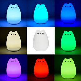 Wholesale Portable Silicone Soft LED Multicolor Night Lamp light Warm White Breathing Dual Light Modes Sensitive Tap Control for Baby Room