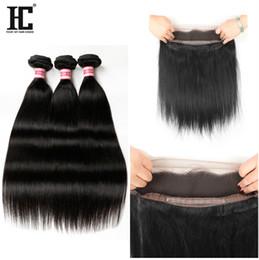 Wholesale Brazilian Hair Bundles with Full Lace Frontal with Baby Hair x4x2 HC Hair lace frontal closure with bundles lace frontal