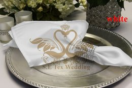 100PCS White Color Satin Table Napkin For Weddinng Party Decoration