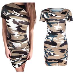 New 2016 Hot Summer Women Camouflage Printed Sports Mini Dress Casual Short Sleeve O Neck Harajuku Hip Hop Club T Shirt Dress