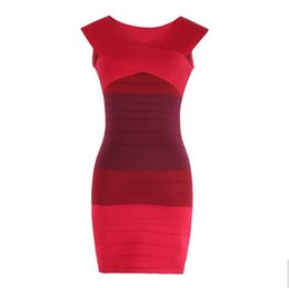 2016 Women Bandage Dresses Sexy Slash Neck Off Shoulder Summer Sleeveless High Waist Mini Bodycon Dress Vestidos free shipping
