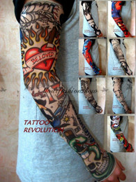 Wholesale DHL Fedex Free Style Nylon Stretchy Fake Tattoo Sleeve Arms Fancy Dress Costume L305