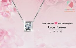 lingdong Beautiful love forever pendant 2016 new 925 Sterling Silver Chain Necklace Jewelry box gift for Valentine's Day Free shipping