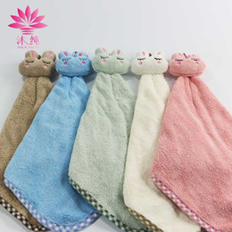 muchun Brand Sleeping Rabbit Hand 80% Natural Cotton Towel Soft Cute Washrag Fresh Style Home Hand Towel 32*20cm