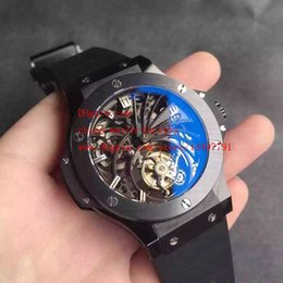 Wholesale Luxury High Quality HF Factory Limited Edition mm x mm Ceramic Real Tourbillon Mechanical Transparent Automatic Mens Watch Watches