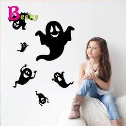 Wholesale Black Ghost Halloween Wall Sticker Living Room Bedroom Furniture Background Sticker