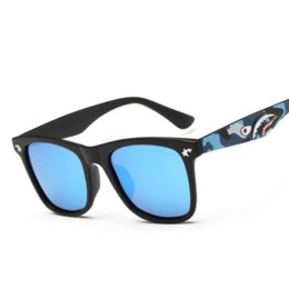 Wholesale Famous bape square sun glasses for men tint coating sunglasses women brand designer polarized driving glasses oculos UV400 Shark