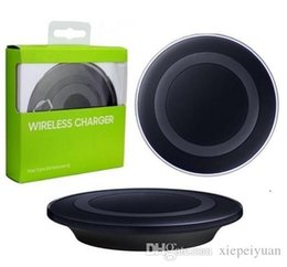 50X Galaxy S6 Qi Wireless Charger Transmitter Fast Charging Pad For Qi-abled Device Samsung Galaxy S6 Edge with Retail Package Cable