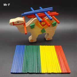Wholesale Cute Animal Strip Block Balance Beam Camel Wooden Toy Kids Montessori Teaching Aids