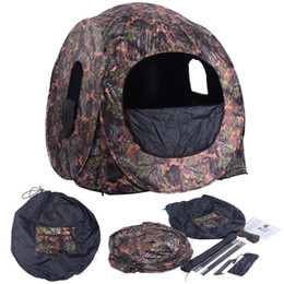 Wholesale Portable Hunting Blind Pop Up Ground Camo Weather Resistant Hunting Enclosure