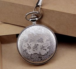 Wholesale DHL hot sale Animated cartoon Design silver Pocket Chain Watch high Quality clock manufacturer direct
