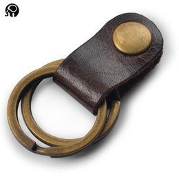 Wholesale Leather Key Chain Ring for Keys Car Key Rings Key Case Waist Guaranteed Genuine Leather Great Gift for Dad Uncle or Grandpa A070