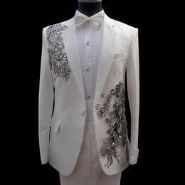 Wholesale 2016 Hot the New Sequins Suit Stage Of Cultivate One s Morality Chorus Costumes Men Dress Singer Host Clothing The Magician Dress