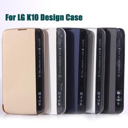 2016 New For LG K10 Side View Window Wallet Cases M2 F670 Slim Smart Flip PU Leather Cover Protector Mobile Phone Bags DHL SCA158