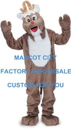 Wholesale Reindeer Mascot Costume for Christmas Celebration Party Carnival Advertising Best Quality SW627