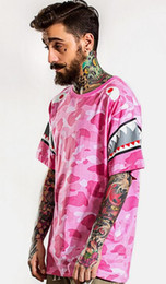 Wholesale Hot sales FGSS Tide brand new spring and summer men s daily influx of men s fashion shark print sleeve camouflage short sleeve T shirt
