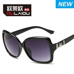 Wholesale 2016 new sunglasses ladies fashion Little Swan toad Europe and the United States big box Sunglasses