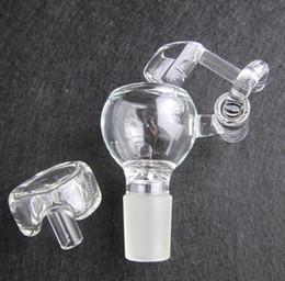 Wholesale 100 Quartz Honey Buckets with carb caps domeless quartz nail QUARTZ swing Arm Honey Buckets glass bowl FC5002