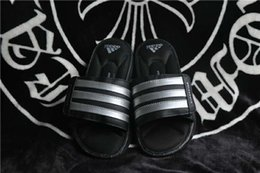 Wholesale 2016 Original Adidas Slippers Flip Flops Superstar Slipper For Men Summer Fashion Leather Man Cheap Black White Size