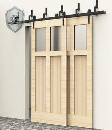 Wholesale 9FT NEW Arrow Bypass Rustic Sliding Barn Double Wood Door Hardware Closet Kit