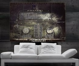 Wholesale BMW old police car Antique historic Poster print wall art parts giant Poster print art huge giant photo No226