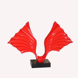Wholesale butterfly Resin Sculpture home table decor Fiberglass sculpture Plating sculptures red sculpture abstract sculpture