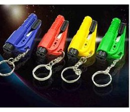 Wholesale Seat Belt Keychain - Car Window Glass 3 in 1 Safety Emergency Hammer Seat Belt Cutter Tool Keychain