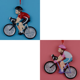 Wholesale Resin Glossy Girl Bicycle Sports Christmas Ornaments As Handmade Craft Souvenir and Retail cm Height PR804