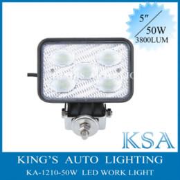 Wholesale 50W Super Bright CREE LED Work Light V Aluminium alloy Waterproof Fog Light For SUV ATV Off road Truck