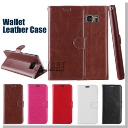 Wholesale For Galaxy S7 Iphone Case S Case Galaxy S7 Edge Plus Cases Wallet PU Leather Case Cover Pouch With Card Slot Photo Frame Opp Package