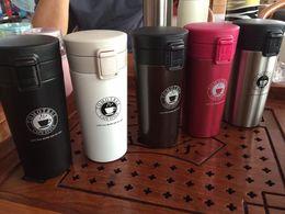 Tasses ventouses en acier inoxydable 304 starbucks Coffee cup eau Isolation Cars Tasses 380ml cadeaux embarqués d'affaires 2016 Logo des douanes à partir de logo d'entreprise cadeaux fabricateur