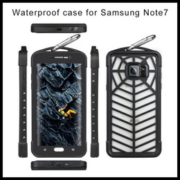 Wholesale Note Waterproof Case New Design Spider Web Case Cobweb Case spider case Best Quality IP68 Waterproof With Clip