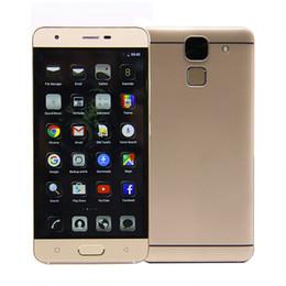Pantallas digitales en Línea-L2 Android 6.0 Teléfono celular de la huella digital Quad Core 5 pulgadas de pantalla MTK6580 RAM 1G 8G ROM GPS Wifi 1280X720 HD IPS DHL Teléfono Smartphone Stock