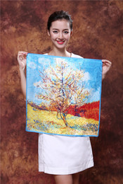 Shanghai Story Top quality Faux silk square scarf silk square scarf Fashion Square Scarf Printed 53*53cm For women Color #1-#10