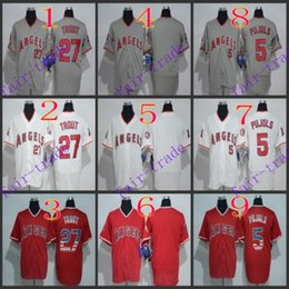 Wholesale los angeles angels albert pujols mike trout Baseball Jersey Cheap Rugby Jerseys Authentic Stitched Size