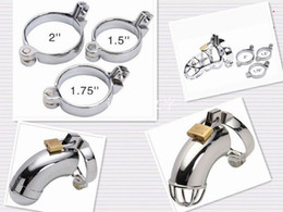Male Chastity Metal Cock Ring 5 Size Adult Supplies Metal Chastity Cage Dedicated Snap Ring, Cock cage fitting