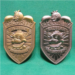 Wholesale Nights At Freddys Fazbear Security Badge Pin Antique Silver bronze Plated FNAF