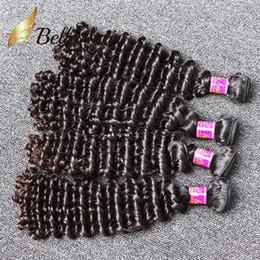 Bella Hair® 8A Grade 8-30 Brazilian Virgin Hair Deep WaveHuman Hair Weaves Human Hair Weft Unprocessed Natural Color Free Shipping