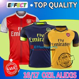Wholesale Top quality Alexis Soccer Jerseys OZIL WILSHERE GIROUD WALCOTT RAMSEY CAZORCA Home Red Away Yello Third Green Football shirts