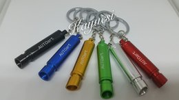 Wholesale AUTOART Auto Alloy Exhaust Pipe Keychain CATBACK EXHAUST MUFFLER METAL KEYCHAIN KEY CHAIN RINGCreative Muffler Keyring Key Fob
