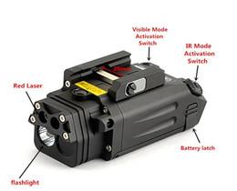 XWXS DBAL-PL type Chasse lumière blanc LED 400 Lumens Lampe de poche Avec Laser rouge et IR LED illuminateur / pointeur laser visible ir hunting for sale à partir de chasse ir fournisseurs