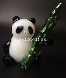 Newest glass somking pipes Panda Pyrex borosilicate glass smoking pipe factory price wholesale glass bong Free Shipping